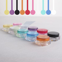 plastic containers - 100pcs G Cream Jars Screw Caps Clear Plastic Makeup Sub bottling Empty Cosmetic Container Small Sample Mask Canister