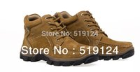 Wholesale Camel cheap genuine men outdoor hiking shoes leather slip resistant rubber soles to help high breathable sneakers