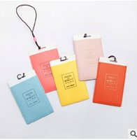 Wholesale Fashion Leather Luggage Tags Travel Paper Suitcase Tag Carrying case Tag Packet Label Wrap Easily recognizable Bag Parts With lanyard