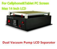 Para el iPhone Ipad Tablet PC Samsung pantalla LCD de vacío Bombas de doble separador de reparación de la máquina de 14 pulgadas Max Restauración