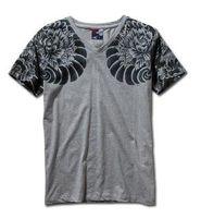animal tattoo - Mens Graphic Tee Short Sleeve T Shirts Japan Ukiyoe Tattoo Art Design Slim Fitted Dragon Pattern Print T Shirt