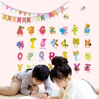 alphabet wallpaper - 3D wall Stickers Early Learning English Alphabet Stickers Living Room Bedroom Children s Room Wallpaper Decoration Removable Waterproof