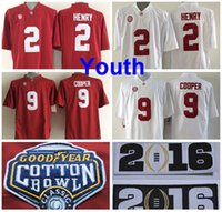 alabama colleges - Factory Outlet Youth Alabama Crimson Tide Jerseys Cotton Bowl College Derrick Henry Jersey Kids Amari Cooper Children Football Jer