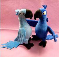big bird baby - 2Pcs New Rio Movie Cartoon Plush Toys Dolls Blue Parrot CM Blu Jewel Bird Gifts For Boys Girls Baby plush doll