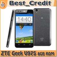 Android 64-Bit Quad Core 512MB ZTE Geek V975 5.0Inch 1280*720 Pixels Screen 2GB RAM 8GB ROM 1.0MP+8.0MP Camera G
