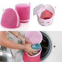 Wholesale 2016 Women Home Hosiery Useful Pink Bra Washing Lingerie Wash Protecting Mesh Bag Aid Laundry Saver