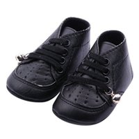 bell leather shoes - Baby PU Leather Shoes Boys Girls Bell Anti Slip Lace Up Casual Shoes M