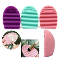 Wholesale Newest colors Brushegg Silicone Brush Cleaning Egg Brush egg Cosmetic Brush Cleanser Make up Makeup Brush Cleaner Clean tools