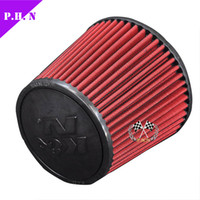 Wholesale K N Air Filter Universal fitment short type KN Filter Universal Air intake mm red
