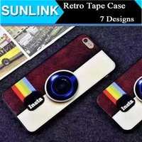 cassette case - Vintage Retro Cassette Tape Camera Game Player Box Design Case Soft TPU Silicone Gel Back Cover for iPhone S Plus Plus