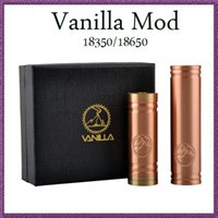Cheap Vanilla copper mech mod mechanical mod clone ecig MOD for 18650 18350 battery VS stingray stainless nemesis panzer and kayfun atomizer