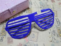 Wholesale Party Glasses Shutter Glasses Sunglasses Shutter Style Party Glasses Frames Cool Costume Eyewear Slotted Shutter Shades Sunglasses Glow Par