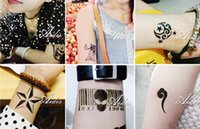 face painting supplies - 2015 hot sale all festivals ankle foot belly waist neck tattoo stencil painting tattoo stickers packing cheap supply