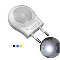 Wholesale Hot sale Colors LED Night Light AC100 V W EU Plug Lighting Control Auto Sensor Nightlight Mini Children Baby Bedroom Night Lamp