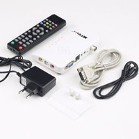 Wholesale 1set Digital TV Box LCD CRT VGA AV Stick Tuner Set top Box View Receiver Converter Hot New Arrival