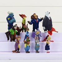amazing animals toys - 2016 Amazing set Zootopia Animals Action Figure Toys Rabbit Judy Hopps Fox Nick Wilde Movie Kids Gift Collection Figures