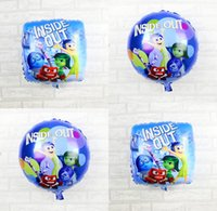 balloon animations - Hot Sales Inside out Animation Movies Foil Aluminum Balloon Cartoon Children Toy Balloons Festival Party Decoration Balloon Free DHL Factory