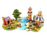 animal puzzle adventure - 3D Paper Art Jigsaw Puzzles DIY Puppet s Adventure Educational Construction Puzzles Toys For Children