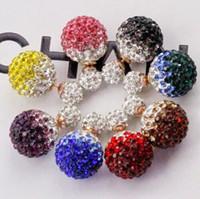 Cheap Gradual Color Crystal Ball Earrings Best Women Jewelry