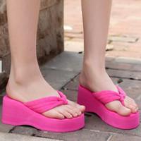beach sandals uk - Womens Beach Shoes Platform Flip Flops Beach Slippers Sandals Wedges UK Sz