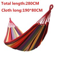 Cheap Travel Camping Hammock Outdoor Swing Garden Indoor Sleeping Hammock Bed Rainbow 3Colors Canvas Hammock 1pcs free shipping