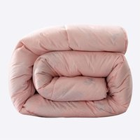 Wholesale winter Wool quilted quilt twin queen king size Cashmere Comforter pink color