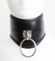 Wholesale Black Neck Posture Collar with O Ring Bondage Collar For Couple Sex Products