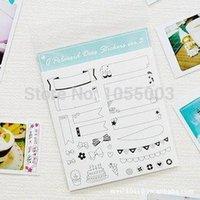 album sheets - 6 sheets DIY Scrapbooking Cut Album Paper Sticker Diary Photo Wedding Decoration Sticker Frame sticker Kawaii Stationery