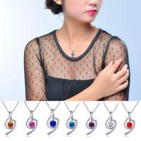 Wholesale 925 silver necklaces Swarovski Elements Austrian crystal plating platinum necklace pendant Optional style color
