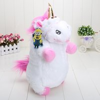 Unisex 8-11 Years Movies & TV Wholesale - Movies Despicable Me 2 Unicorn Plush Stuffed Doll Toy Minions 40CM Free shipping
