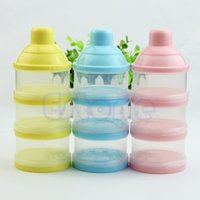Wholesale Portable Baby Infant Cells Grid Feeding Box Milk Powder Food Bottle Container