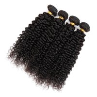 Wholesale 8A Brazilian Hair Weaves Kinky Curly Hair B Natural Black Remy Human Hair Unprocessed Virgin Hair Kinky Curly Hair Weave