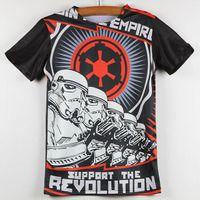 boys t-shirt - Summer New T Shirts Kids Star Wars Support The Revolution Print Unisex Children Clothing Boys Clothes Round Neck Short Sleeve