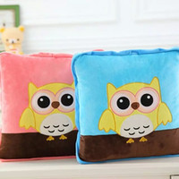 Wholesale owl cm open cm cute cartoon bolster quilt blanket patterns for choice lion totoro gift for child sets