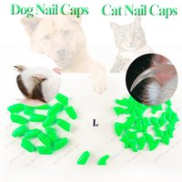 Wholesale Dog nail caps Soft Pet Claws Nail Caps lovely dog Accessories free glue