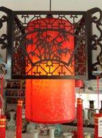 antique wooden lantern - Capitales sheepskin paper red classical lantern pendant light antique wooden pendant light chinese style lanterns cutout carved