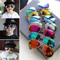 best aviator sunglasses - 500pcs best price Kids Sunglass Children Beach Supplies UV protective eyewear baby sunglasses for boys Girls sunshades kids aviator D093