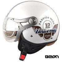 best open face motorcycle helmet - Best Sales Classic Pilot Helmets Star open face helmets motorcycle half face Harley helmets Styles BEON100