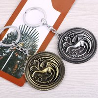 Wholesale new Game of Thrones key chain keychain men kids jewelry anime cartoon key ring keyring