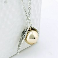 good quality jewelry - Good quality Silver Tone The Golden Snitch Pendant Necklace harry potter jewelry