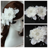 Cheap Beautiful Flowers Rhinestone Bridal Hair Accessories Beaded Hair Accessories Decoration Cheap For Bridal Wedding Prom Party 2015