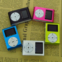 Wholesale Sport MP3 Music Player with LCD Screen Metal Mini Clip Metal Multicolor Portable MP3 Player with Micro TF SD Card Slot