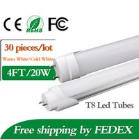 Cheap Factory Supply T8 LED Tube Light 4ft T8 20W Led Tubes Light 2000lm Warm Cold White AC85-265V Best Replace 1.2m Fluorescent Tube Lamp LED Tub