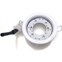abs plastic cutting - GX53 Base LED Lamp Spotlight Socket Downlight Holder Converter Cut out mm Aluminum Plastic with Buckle White Color