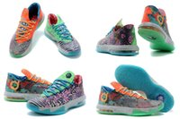 Low Cut Women PU Free Shipping New Model High Quality Kevin Durant Air KD 6 MVP Elite Odd Shoes Women's Basketball Sport Footwear Sneakers Shoes