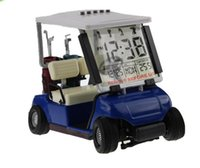 miniature golf - Miniature Golf Cart With Transparent LCD Digital Alarm Clock LCD Calendar for Birthday Gift