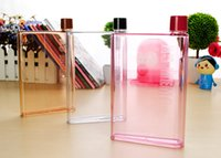 Wholesale 2016 new brand Memobottle Clear A5 Memo Book Paper Bottle Flat Portable Water Bottle Cup Kettle freeshipping