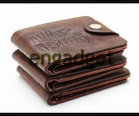 Wholesale New Vintage Men s Wallet Brown PU Leather Money Purse Wallet Wallet For Men