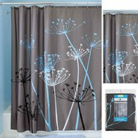 Wholesale 72inch Thistle Polyester Fabric Waterproof Hotel Home Bathroom Shower Curtain