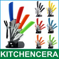Wholesale kitchen cooking tools pieces inch ceramic knife set with knife block holder fruit carving tools